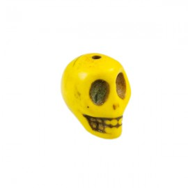 Doodshoofd kraal 12mm Geel