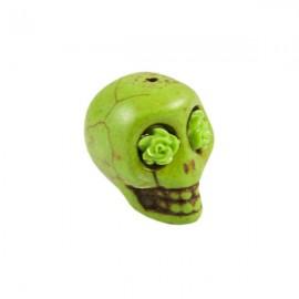 Doodshoofd kraal 18x23mm Groen
