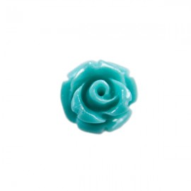 Kunststof Roosje 7mm Turquoise