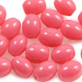 Glaskraal Ovaal 8x6mm Indian Pink