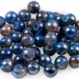 Glaskralen 6mm Gemêleerd Blauw Bruin