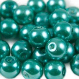 Glasparel 8mm Rond Smaragdgroen