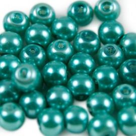 Glasparel 6mm Rond Smaragdgroen