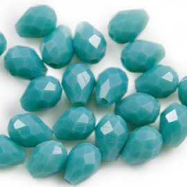 Facetkraal Druppel 7x5mm Turquoise