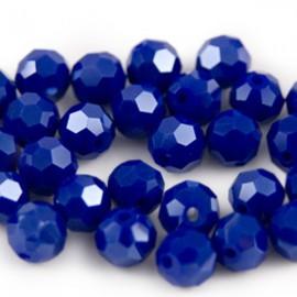 Facet Rond 6mm Kobaltblauw