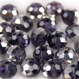 Facet Rondel 8x6mm Dark Purple