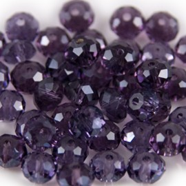 Facet Rondel 6x4mm Amethyst