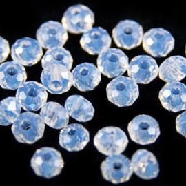 Facet Rondel 3x3,5mm Crystal Opal