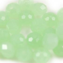 Facet Rondel 8x6mm Light Chrysolite Green Opal