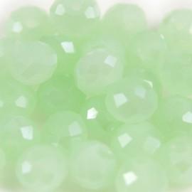 Facet Rondel 8x6mm Light Chrysolite Green