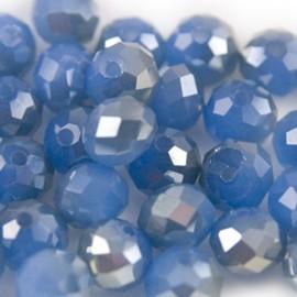 Facet Rondel 8x6mm Blue