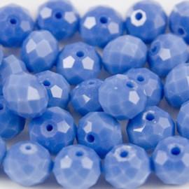 Facet Rondel 8x6mm Heavenly Blue