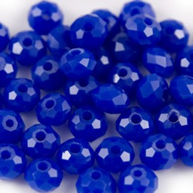 Facet Rondel 6x4mm Dark Blue