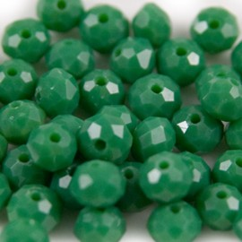 Facet Rondel 6x4mm Green
