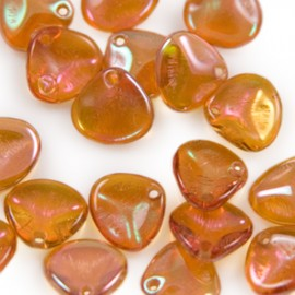 Rose Petal 8x7mm Crystal Apricot Medium