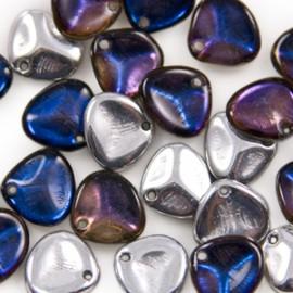 Rose Petal 8x7mm Crystal Bermuda Blue