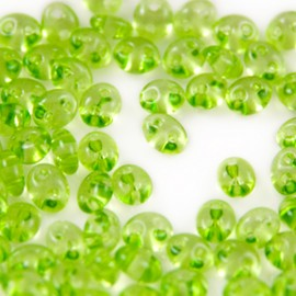DQ Duo Beads Peridot Transparent