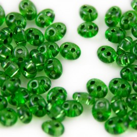 DQ Duo Beads Emerald Transparent