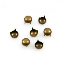 Studs Rond 6mm Brons