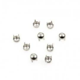 Studs Rond 4mm Zilver