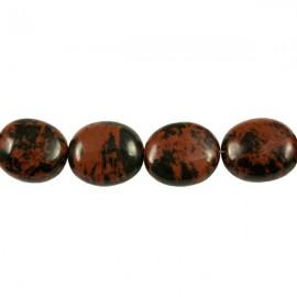 Mahonie Obsidiaan Ovaal 14x12mm