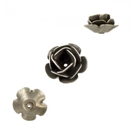 Roosje Metaal 11mm Antiek Zilver