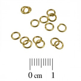 Montagering 4mm Goud